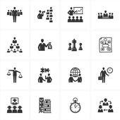 управление и бизнес иконы — Cтоковый вектор