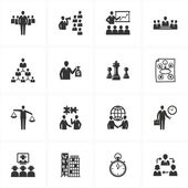 Management and Business Icons — Vector de stock