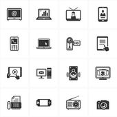Electronics Icons — Stock Vector