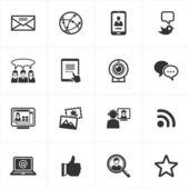 Meios de comunicação sociais 1 conjunto de ícones — Vetorial Stock