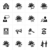 Icônes de l'immobilier — Vecteur
