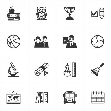 School and Education Icons-Set 3