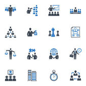 Management and Business Icons - Blue Series — Stok Vektör
