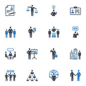 Management and Human Resource Icons - Blue Series — Stok Vektör