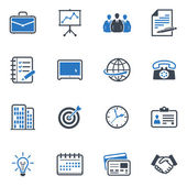 Business and Office Icons - Blue Series — 图库矢量图片