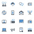 Communication Icons Set 2 - Blue Series — Stock Vector #19826421