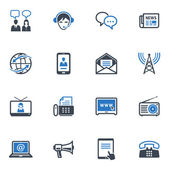 Communication Icons Set 2 - Blue Series — Stockvektor