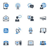 Communication Icons Set 1 - Blue Series — Stok Vektör