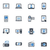 Electronics Icons - Blue Series — Stock Vector
