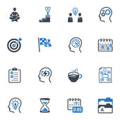 Productive at Work Icons - Blue Series — Stock Vector