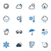 Weather Icons - Blue Series — Stock Vector