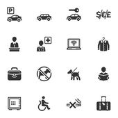 Hotel Services and Facilities Icons - Set 1 — Stock Vector