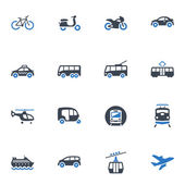 Transportation Icons - Blue Series — Stockvektor