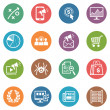 图库矢量图片: SEO & Internet Marketing Icons Set 3 - Dot Series