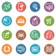 SEO & Internet Marketing Icons Set 3 - Dot Series — Vektorgrafik