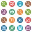 Wektor stockowy : SEO & Internet Marketing Icons Set 1 - Dot Series