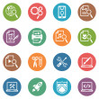 图库矢量图片: SEO & Internet Marketing Icons Set 1 - Dot Series