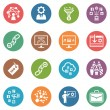 Stock Vector: SEO & Internet Marketing Icons Set 2 - Dot Series