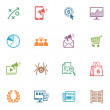SEO & Internet Marketing Icons Set 3 - Colored Series — Vettoriale Stock  #23713467