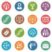 Seo y de marketing en internet iconos conjunto 2 - serie de puntos — Vector de stock