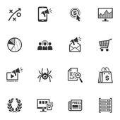 Seo & интернет маркетинг иконы - набор 3 — Cтоковый вектор
