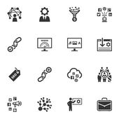 Seo & интернет маркетинг иконы - набор 2 — Cтоковый вектор