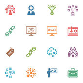 SEO & Internet Marketing Icons Set 2 - Colored Series — ストックベクタ