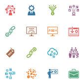 Seo & интернет маркетинг иконки набор 2 - цветной серии — Cтоковый вектор