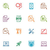 SEO & Internet Marketing Icons Set 1 - Colored Series — Stock Vector