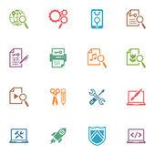 Seo & интернет маркетинг иконки набор 1 - цветные серии — Cтоковый вектор
