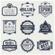 Monochrome Vintage Labels — Stock Vector