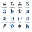 Business Icons Set 1 - Blue Series — Vettoriale Stock #29575941