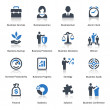 Business Icons Set 1 - Blue Series — Stockvectorbeeld