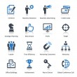 Business Icons Set 2 - Blue Series — Imagen vectorial