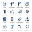 Business Icons Set 2 - Blue Series — Vettoriali Stock