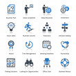Business Icons Set 3 - Blue Series — Imagen vectorial