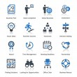 Business Icons Set 3 - Blue Series — Vector de stock
