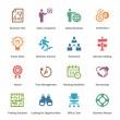 3 - renkli serisi iş Icons set — Stok Vektör