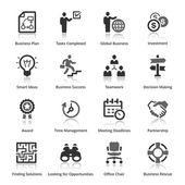 Icônes de l'entreprise - set de 3 — Vecteur