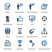 Pictogrammen bedrijfs van de set 2 - blauwe reeks — Stockvector