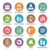 Iconos de negocios conjunto 1 - serie de punto — Vector de stock