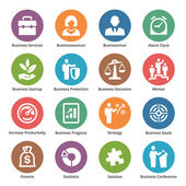 ícones de negócios conjunto 1 - série ponto — Vetorial Stock