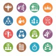 图库矢量图片: Management and HumResource Icons - Dot Series