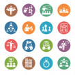 Management and Human Resource Icons - Dot Series — Imagen vectorial