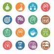 图库矢量图片: Productive at Work Icons - Dot Series