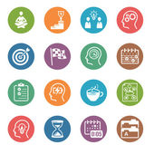 Productive at Work Icons - Dot Series — Stockvector