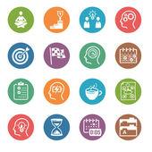Productivo en trabajo iconos - serie de punto — Vector de stock