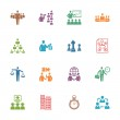Management and Business Icons - Colored Series — Stock Vector