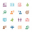 Employment and Business Icons - Colored Series — Stock Vector