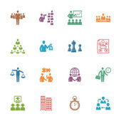Management and Business Icons - Colored Series — Cтоковый вектор